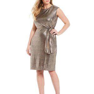 NWT Tahari Arthur S. Levine Metallic Dress 22W